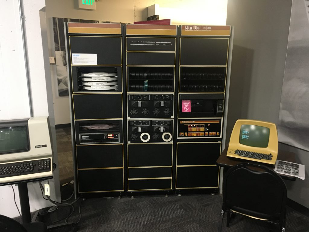 LCM+L's PDP-8/e.  RK05 drive on the left.